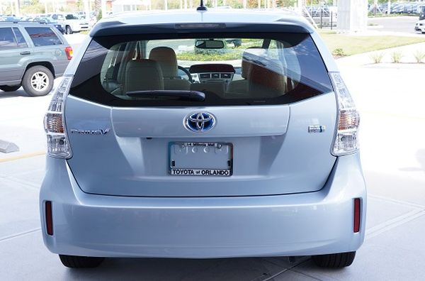 Rear View of 2015 Toyota Prius - V