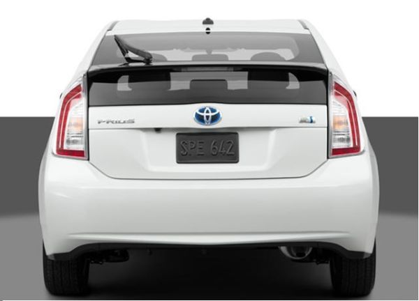 Rear View of Toyota Prius 2015