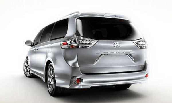 Rear View of 2016 Toyota - Sienna