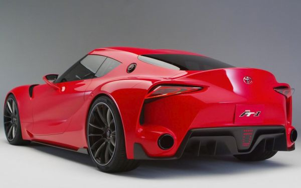 Rear View of 2016 Toyota Supra